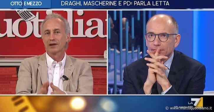 """Letta a La7: """"In questo esecutivo ci sentiamo a casa nostra"""". E Travaglio replica: """"È il governo di Draghi e dei padroni…"""""""