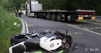 Unfall bei Windeck: 28-jähriger Motorradfahrer stirbt bei Kollision mit Lkw - General-Anzeiger Bonn