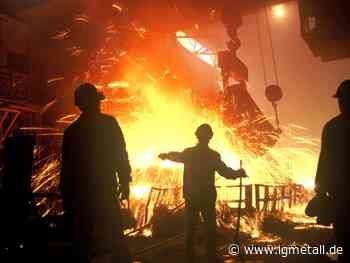 Mehr Geld auch im Stahl Saar - IG Metall