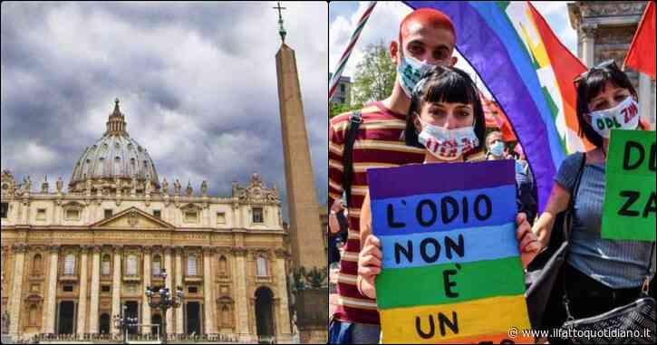"""Vaticano contro il ddl Zan, Pd: """"Aspettiamo testi, ma convinto sostegno alla legge"""". I promotori: """"Timori Santa Sede infondanti"""""""