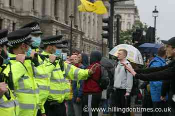 Police officers injured and 14 arrests made during anti-lockdown protest - Hillingdon Times