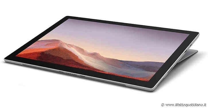 Microsoft Surface Pro 7, tablet professionale da 12 pollici con sconto di oltre 200 euro sul Web