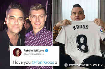 Toni Kroos and Robbie Williams' bizarre bromance from gushing tweets to plea for Germany star to join Man U... - The Sun