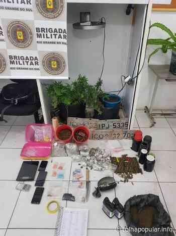 Indivíduo é preso por tráfico de drogas no Bairro Jardim do Cedro, em Lajeado - Folha Popular