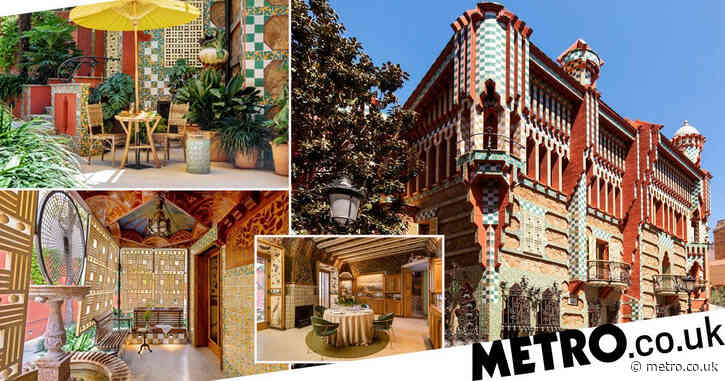 You can stay at Gaudi's first house Casa Vicens in Barcelona for one night only