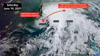 Llegan vientos de tormenta tropical al noroeste de Florida provenientes de Claudette - WPLG Local 10