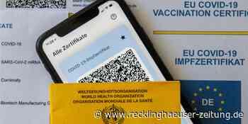 Post für vollständig Geimpfte aus dem Impfzentrum Recklinghausen - Recklinghäuser Zeitung