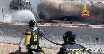 Two die in horror fireball crash after tanker carrying gas bursts into flames