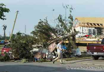 Cleanup underway in Quebec town after tornado that left one man dead