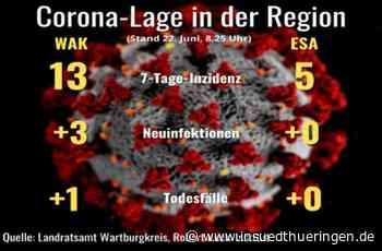 Corona-Lage im Wartburgkreis und Eisenach - Zahlen bleiben niedrig, ein Todesfall - inSüdthüringen