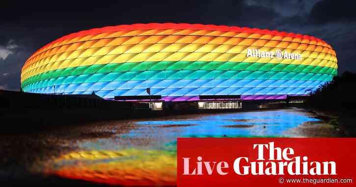 Euro 2020: Uefa blocks rainbow display; Wembley to hold 60,000 for semis – live!