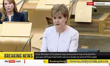 Nicola Sturgon pushes Scotland's Freedom Day back to July 19 and vows to drop all rules by August 9