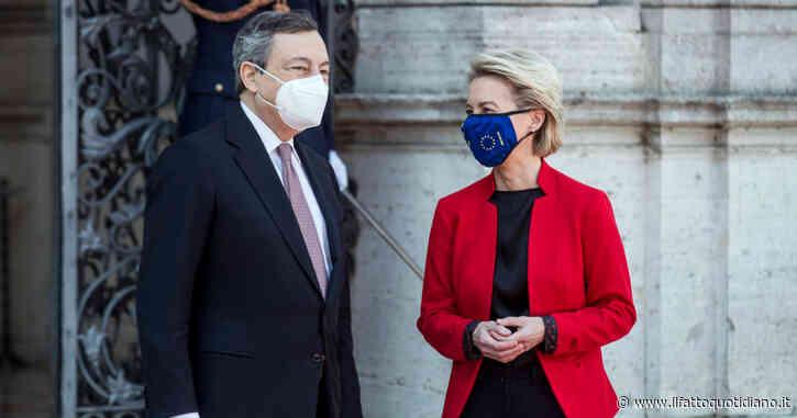 Pnrr, la conferenza stampa di Ursula von der Leyen e Mario Draghi: segui la diretta tv