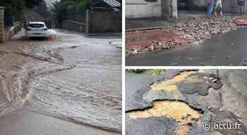 Orages et inondations : les rues de Dampmart transformées en torrent d'eau boueuse - actu.fr