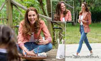 Kate Middleton dons £1,795 Chloe blazer and £90 Veja trainers on a visit to Natural History Museum
