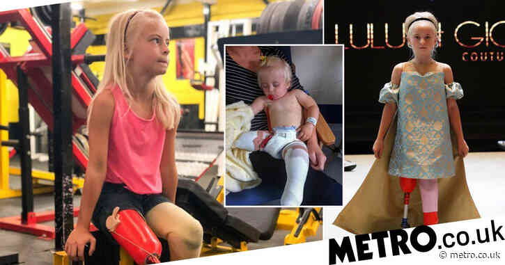 10-year-old double amputee who lost her legs as a baby is now a catwalk model
