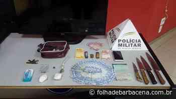 Homem é preso por tráfico de drogas em Barbacena | Jornal Folha de Barbacena - Folha de Barbacena