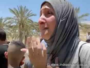 Emotional moment Palestinian-Jordanian families meet across Jordan river after 24 years of separation