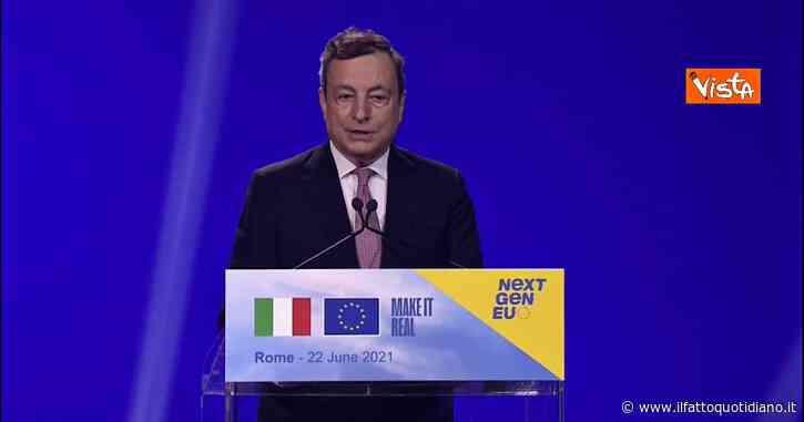 """Recovery, Draghi: """"Sfida più importante è l'attuazione del piano. Fondi vanno spesi bene, in maniera efficiente e con onestà"""""""