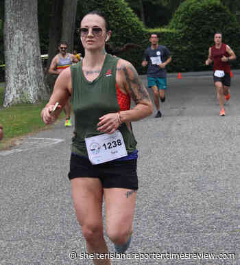 Taking top honors for their hometown:Tara Wilson and Jason Green are the first Islander 10K finishers - Shelter Island Reporter - Shelter Island Reporter