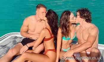 Culpo sisters and their NFL beaus! Olivia kisses Christian McCaffrey, Sophia with Braxton Berrios