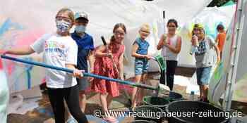 Kunterbunt und kreativ: Mit Haien schwimmen und Graffiti sprayen - Recklinghäuser Zeitung