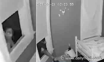 Burglar creeps in through bedroom window just steps away from two sleeping girls