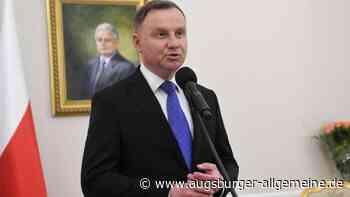 Polens Präsident positiv auf Corona getestet - Augsburger Allgemeine