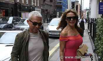 Lizzie Cundycuts a glamorous figure as she leaves the arts club in Mayfair with Bruno Tonioli