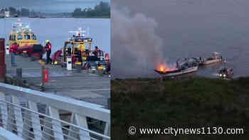 WATCHING NOW Boat catches fire near Steveston - News 1130