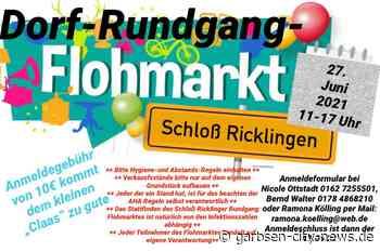 Dorf-Rundgang und Flohmarkt in Schloß Ricklingen - Anmeldegebühren werden gespendet - Garbsen City News