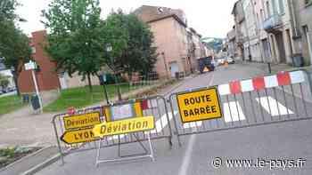 Trafic - A Tarare, la RN7 bloquée jusqu'à fin juin après l'incendie d'un immeuble - le-pays.fr