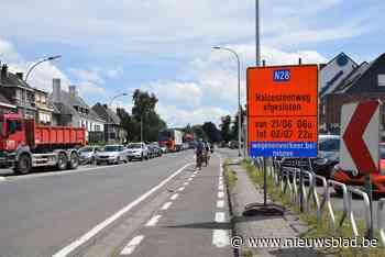 Twee weken verkeershinder richting Halle - Het Nieuwsblad