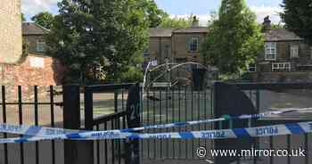 Children's play area taped off after woman raped and man, 20, is arrested