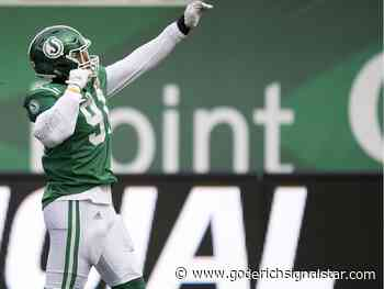 Saskatchewan Roughriders' defensive end Chad Geter retires to join the United States Air Force - Goderich Signal Star