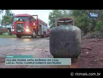 Mulher morre após incêndio em casa que ficou completamente destruída em Toledo - RIC Mais