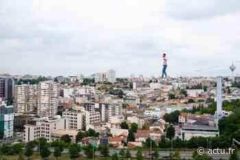 IMAGES. Un funambule réalise une traversée exceptionnelle entre deux tours de Bagnolet - Actu Seine-Saint-Denis