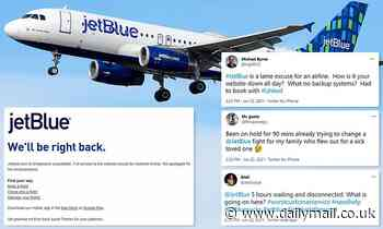 JetBlue website crashes and customers are kept on hold for more than 90 minutes