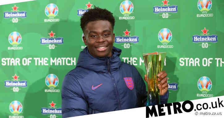 Bukayo Saka reveals what Gareth Southgate told him before MOTM display in England's Euro 2020 win over Czech Republic