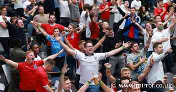 England fans go crazy across country as Red Lions make it to Euro 2020 last 16