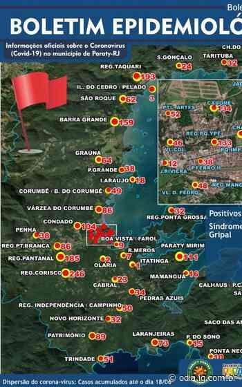 Mapa da pandemia em Paraty - O Dia