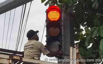 Tormenta Dolores afectó semáforos de Acapulco - El Sol de Acapulco