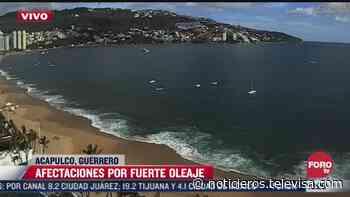 Fuerte oleaje causa afectaciones en el puerto de Acapulco - Noticieros Televisa