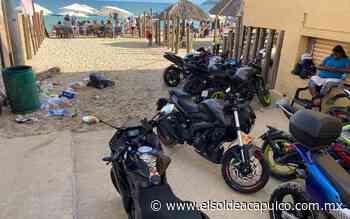 Motos y basura proliferaron en las playas - El Sol de Acapulco