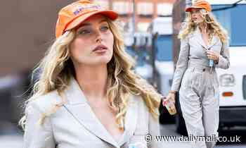 Elsa Hosk shows off enviably svelte post-baby body in sleek jumpsuit while on NYC stroll