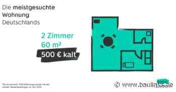 Bei ImmoScout24 meistgesuchte  Mietwohnung Deutschlands: Zwei Zimmer, 60 m², 500 Euro kalt
