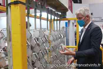 Elections régionales : Laurent Wauquiez en visite à Genas dans une usine de métallurgie - France 3 Régions