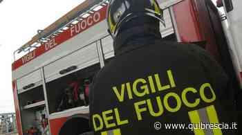 Montichiari, garage e portico residenziale in fiamme: arrivano i vigili del fuoco - QuiBrescia.it