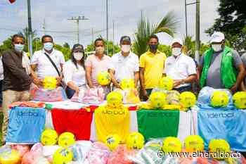 Escuelas deportivas de Pinillos reciben implementos deportivos - El Heraldo (Colombia)