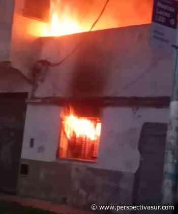 Ardió una vivienda deshabitada en Villa La Florida - Perspectiva Sur
